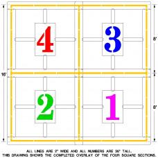 16′ Official Four Square Stencil