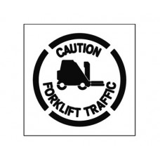 20 Inch CAUTION FORKLIFT Stencil