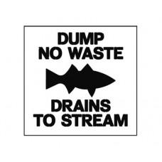 20 Inch DUMP NO WASTE Safety Stencil