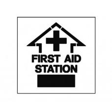 20 Inch FIRST AID STATION Stencil