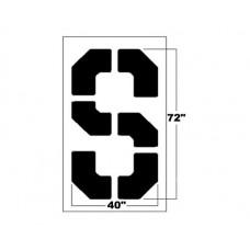 72 Inch Bold Block Letter Stencil