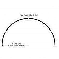 Basketball 6′ Center Circle Stencil
